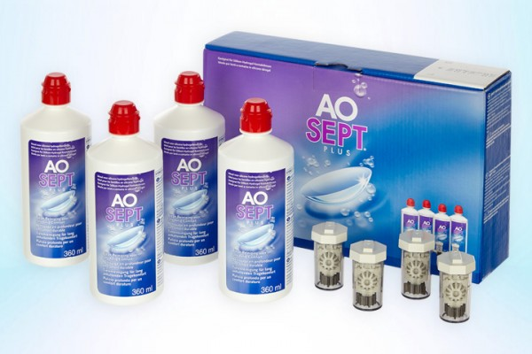 Pflegemittel Aosept Plus Vorratspack 4x360 ml
