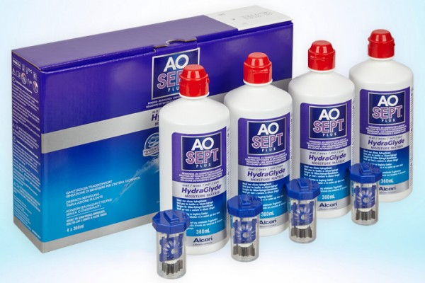 AOSEPT® PLUS with HydraGlyde® Viererpack