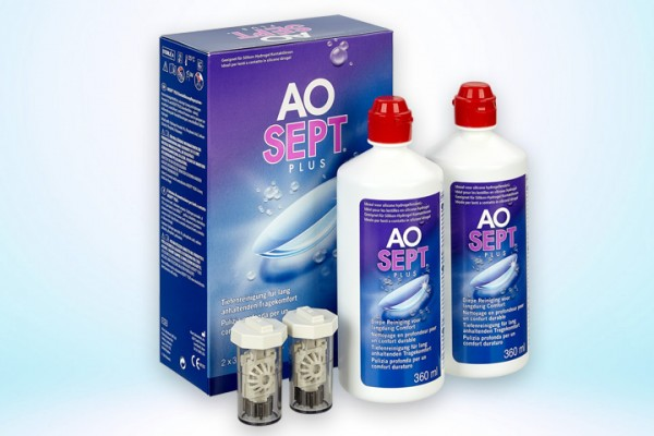 Pflegemittel AOSEPT® PLUS Doppelpack 2x360 ml