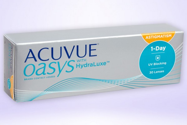 Tageslinse ACUVUE OASYS® 1-Day mit HydraLuxe™ for Astigmatism 30-er Box